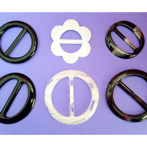 Accessories - 6 T-Shirt Scarf Slides Rings Buckles Clips, Retro